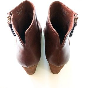 Dr. Scholl's Shoes - Dr Scholls Dwell Copper Brown Wedge Ankle Booties